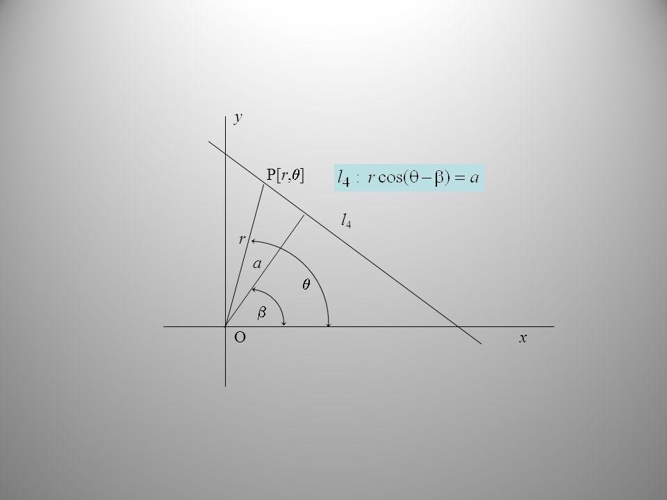 O y x l4 r  P[r,]  a